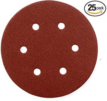 60Pcs YXQ 800Grit 5 inch Sanding Discs No Hole Hook and Loop Sandpaper Adhesive