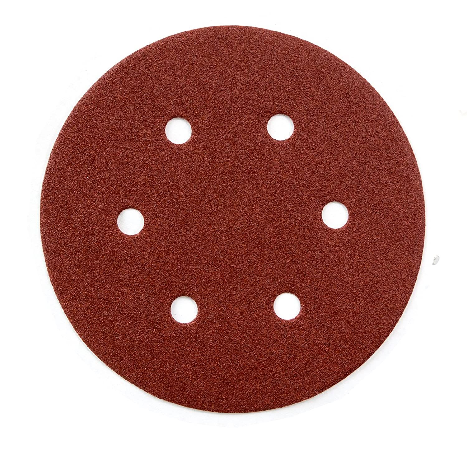 POWERTEC 45224 A/O Hook and Loop 6 Hole Disc, 6-Inch, 240 Grit, 25 PK