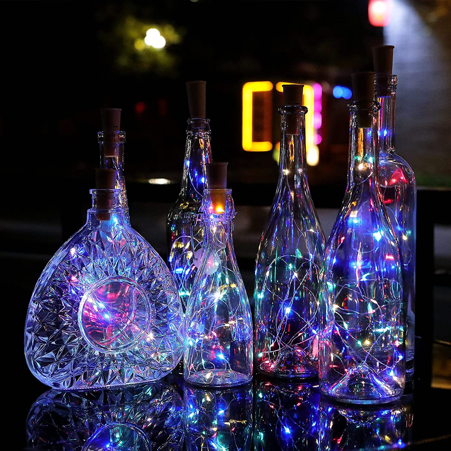 2M 20LED Wine Bottle Fairy String Lights Battery Waterproof Party Christmas Lamp