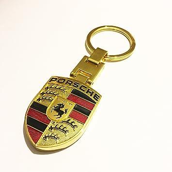 Porsche metal llavero Oro Color: Amazon.es: Coche y moto