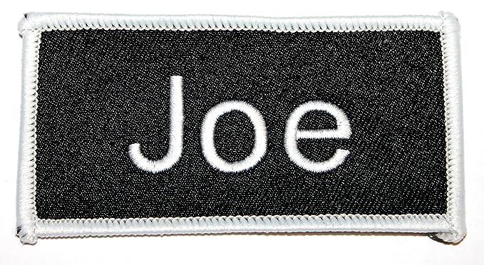 amazon com joe name tag patch uniform id work shirt badge