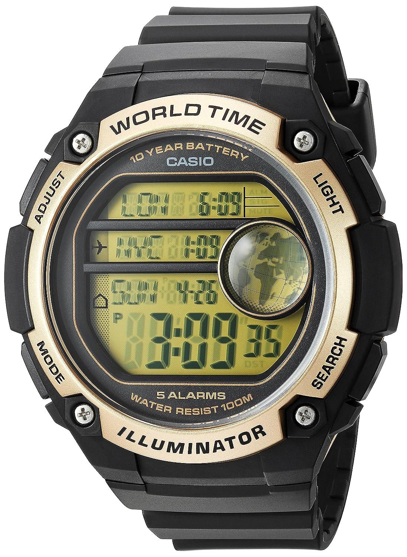 Casio World Map Watch.Amazon Com Casio Men S Classic Quartz Resin Casual Watch Color