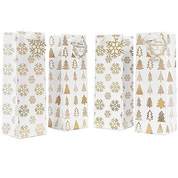 Amazon.com: 12 Pack Set of Christmas Wine Bottle Bags – Premium ...