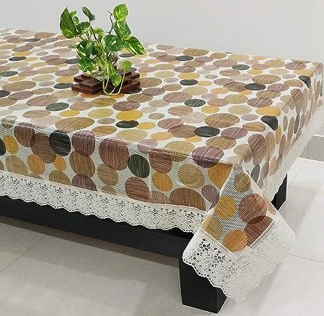 4d50c1ac75e948 STITCHNEST PVC Vinyl-Seater Table Cover (40x60x0.02-inch, Multicolour)