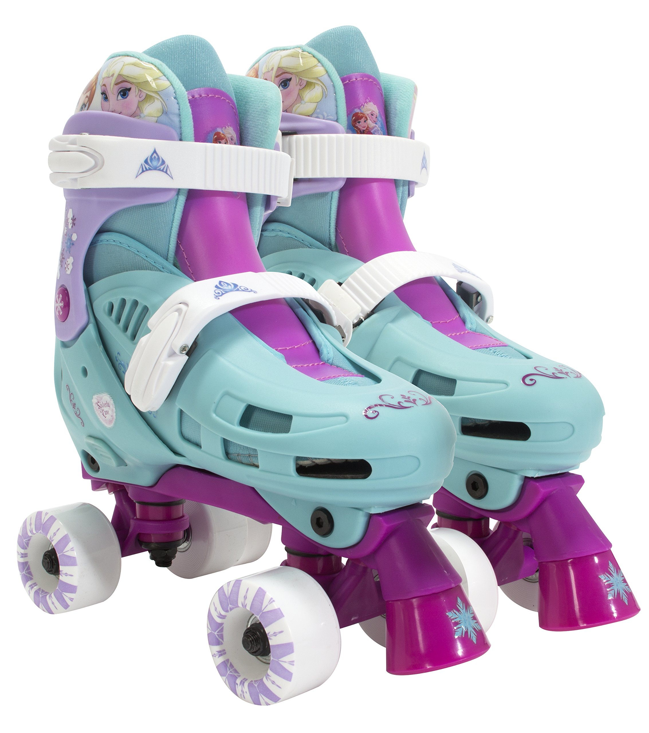 PlayWheels Disney Frozen Kids Classic Quad Roller Skates - Size 1-4