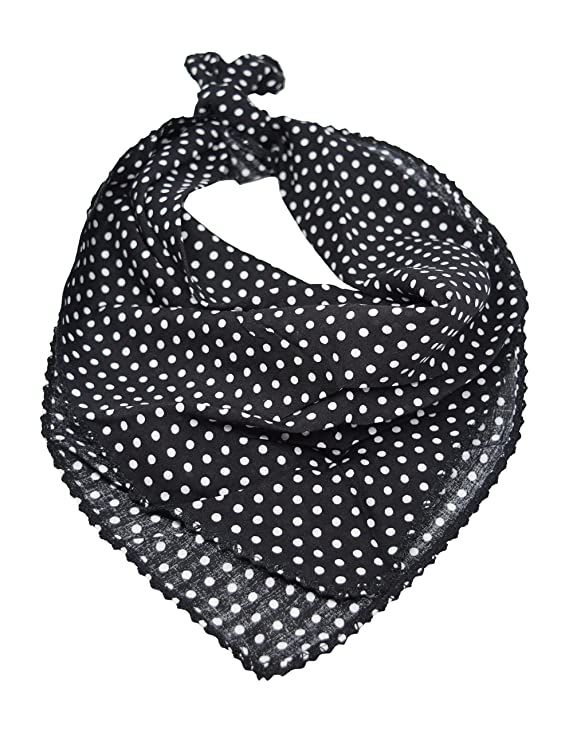 Shop 1950s Hair Accessories Polka Dot Neckerchief Tie Square Scarf $11.99 AT vintagedancer.com
