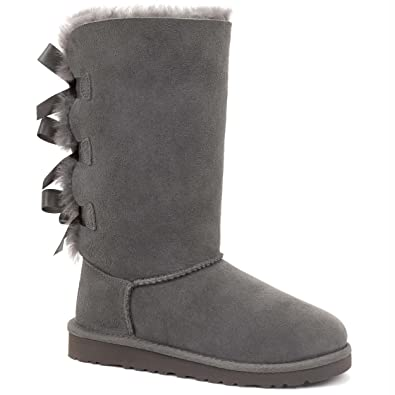 fcd28aba546 UGG Children's Bailey Bow Tall Boot Little Kids, Grey, US 13 M ...
