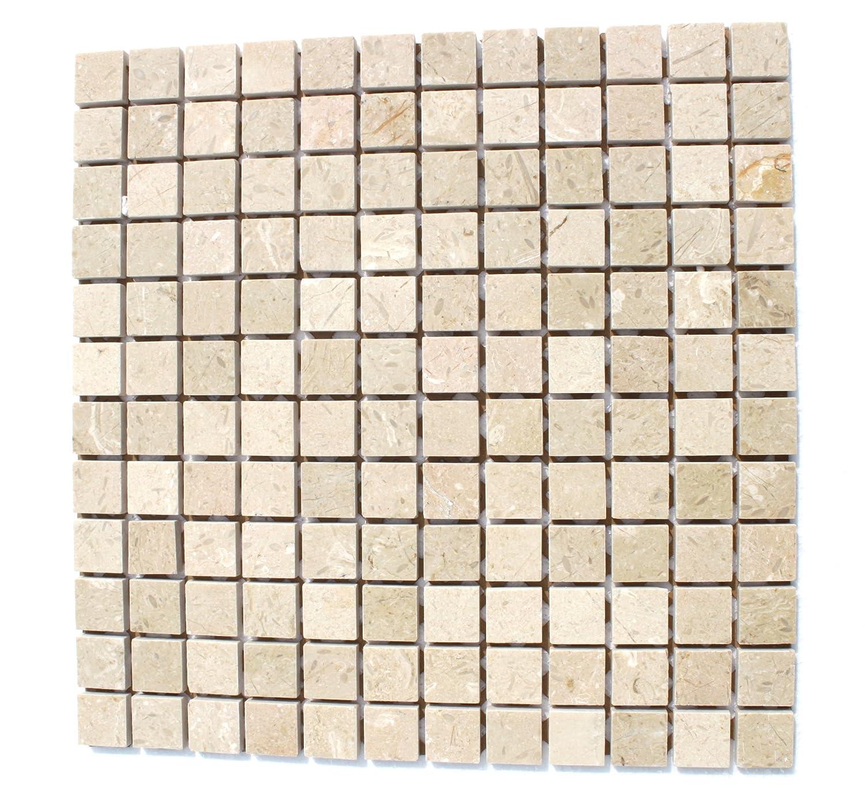 Crema Marfil Marble Polished Wall Natural Stone Mosaic 1 Mat DA SILVA STONES