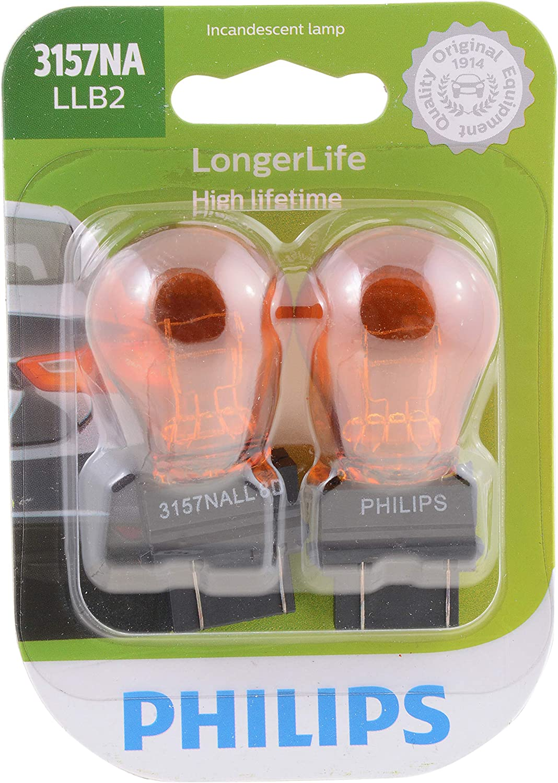 2-Pack Philips 916NA LongerLife Incandescent Bulb 916NALLB2 Amber Signaling