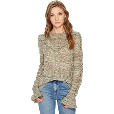 kensie Women's Ruffle Pullover Sweater at Women's Clothing store