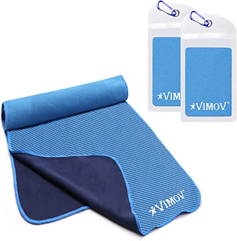 VIMOV Toalla Refrescante 2 Pack con Funda, Blue Ice Towel Neck ...