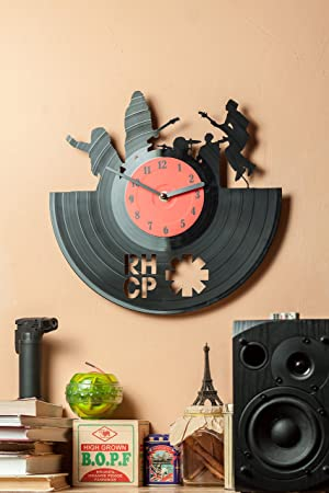 Red Hot Chili Peppers Clocks for Kitchen – Wall Clocks Unique – Vinyl Record Wall Decor – Wall D cor – Vinyl Wall Clocks Red Hot Chili Peppers – Vinyl Record Decor – RHCP