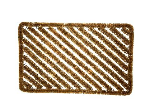 Escobilla de fibra de coco para limpiaparabrisas diagonal: Amazon.es ...