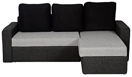 Woodstock San Marino L Shaped Sofa Cum Bed With Storage Light Grey