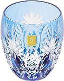 カガミクリスタル ロックグラス(矢来重に星紋) 240cc 江戸切子 T727-2668CCB