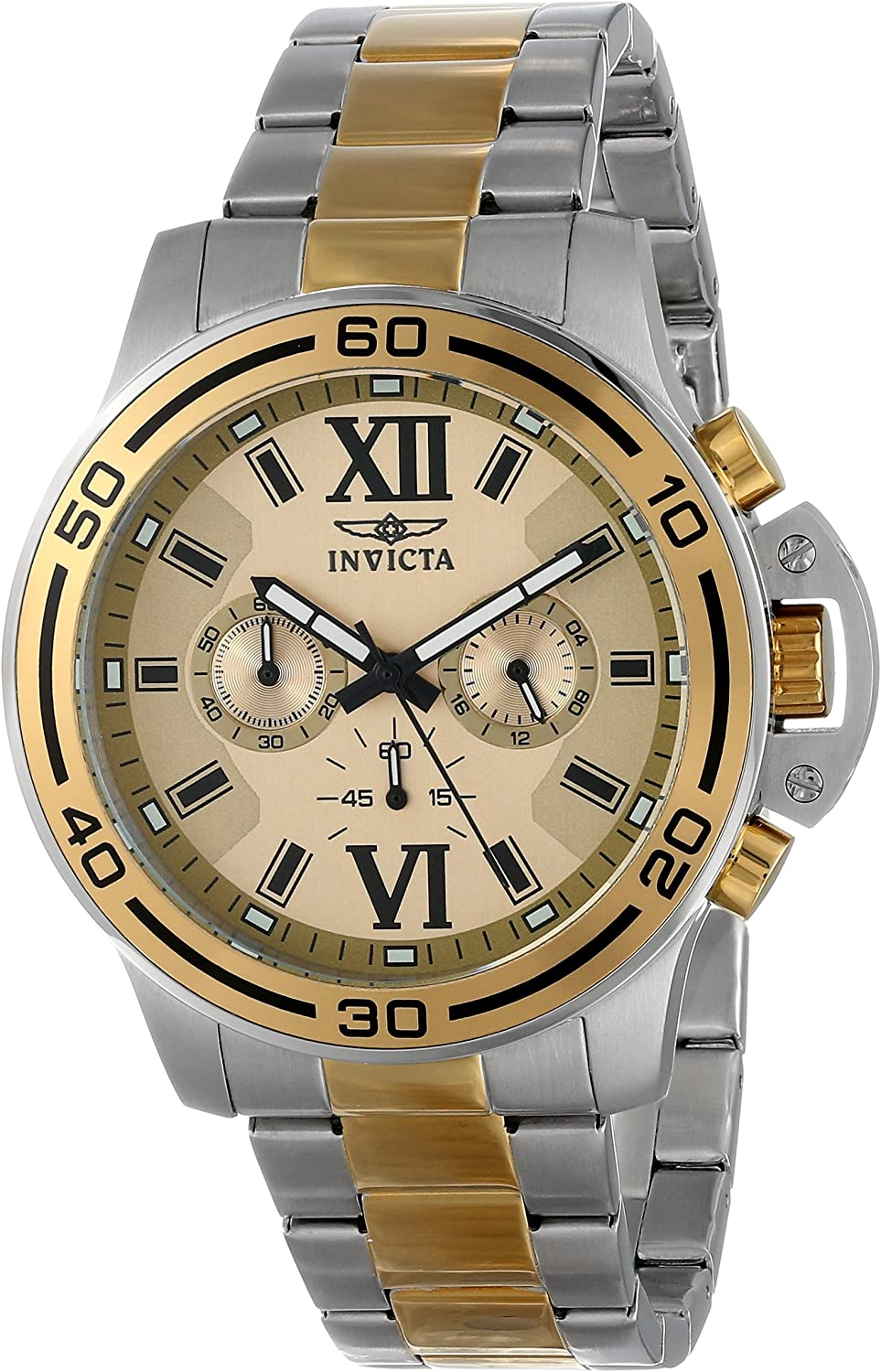 Invicta Men s 15058 Specialty Stainless Steel and Gold-Tone Bracelet Watch