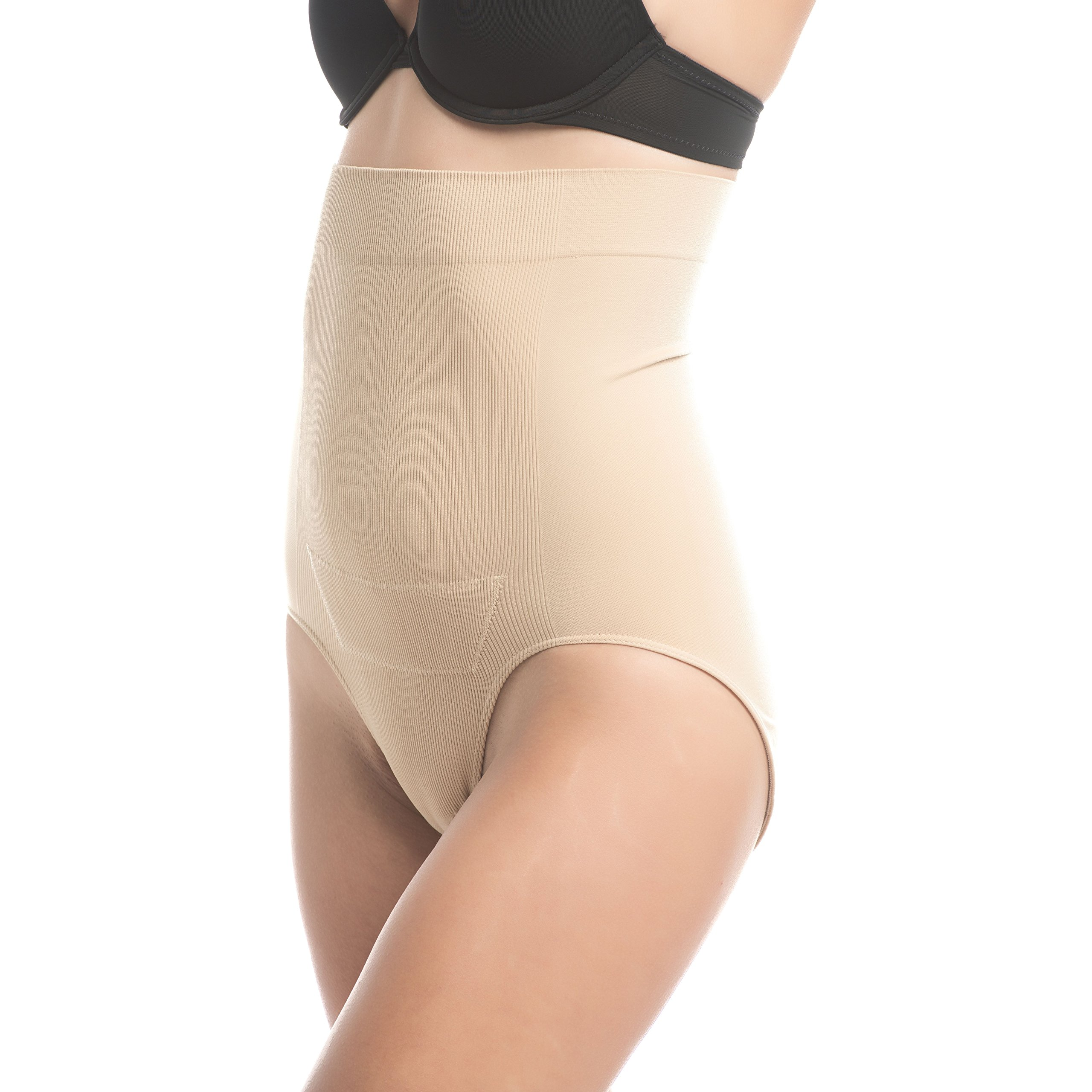 UpSpring C-Panty High Waist C-Section Support, Recovery & Slimming Panty with C-Section Scar Healing - OBGYN Recommended L/XL Nude