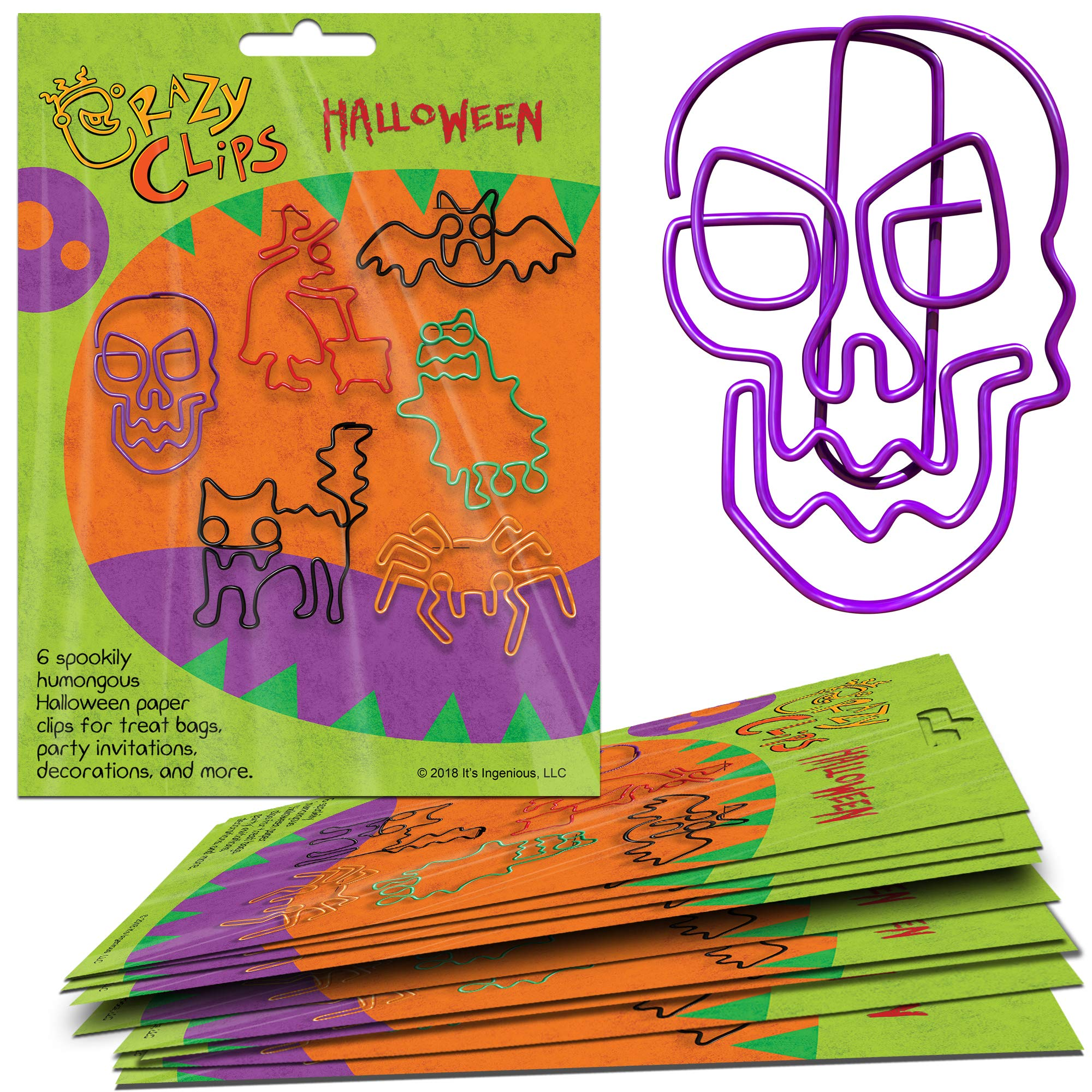 Halloween Gift Packs - 6 Big, Super-Cute Clippable Creatures for Party Favors, Prizes, Treats, and Fun Halloween Gifts. Package of 10