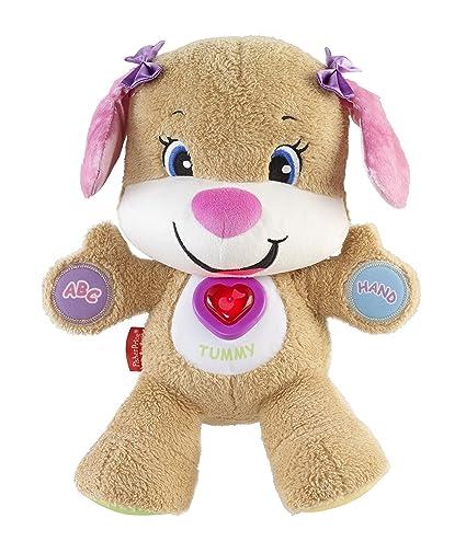 Fisher-Price Perrita primeros descubrimientos, juguete bebé +6 meses (Mattel CGR45)