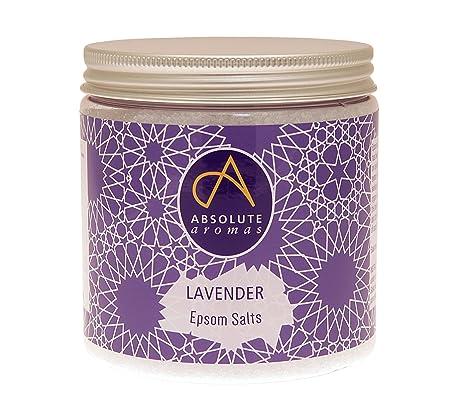 Absolute Aromas Lavender Epsom - Sal de baño, 575 g