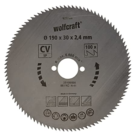 Wolfcraft 6277000 190 x 30 x 24mm cv circular saw blade with 100 wolfcraft 6277000 190 x 30 x 24mm cv circular saw blade with 100 teeth keyboard keysfo Image collections