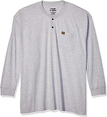 Wrangler Camisa de Trabajo para Hombre. Color Gris Ceniza. M