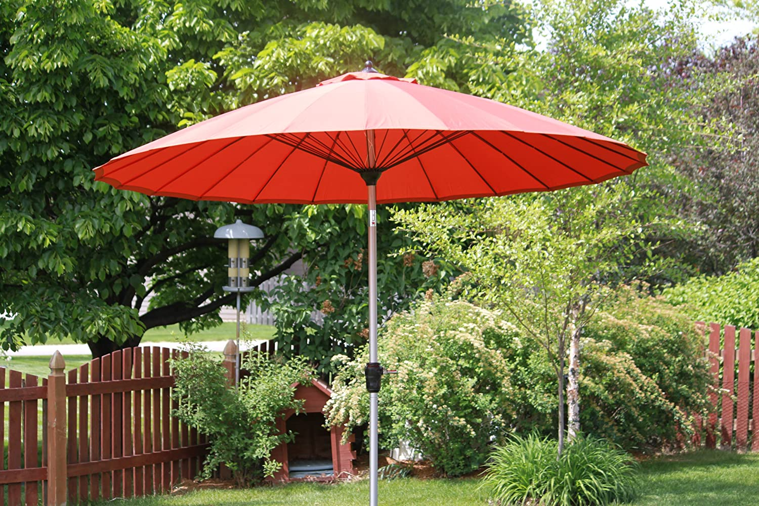 Amazon.com : Exclusive 24 Rib 9u0027 Wind Resistant Fiberglass Patio Umbrella    Tilt : Garden U0026 Outdoor