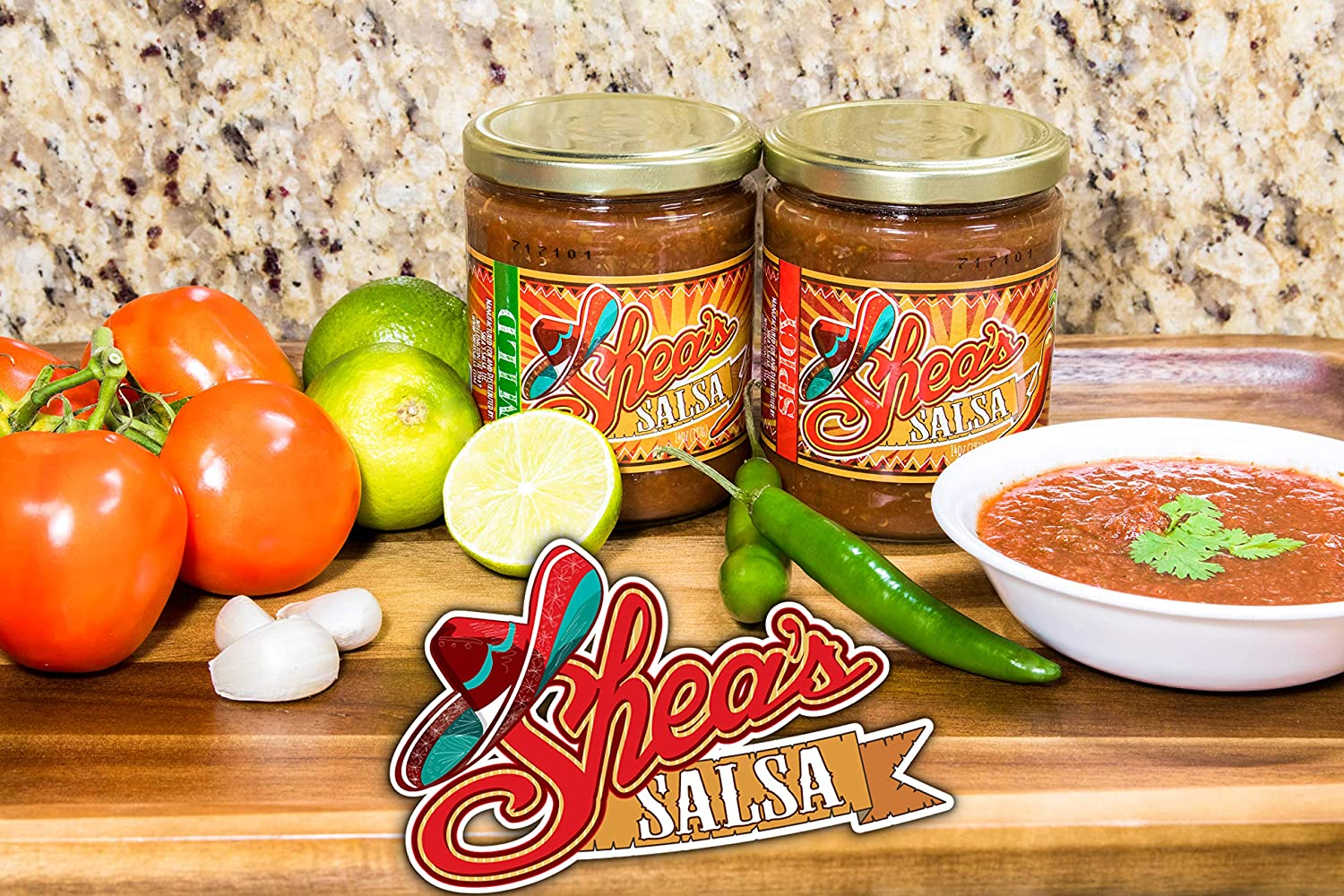 Amazon.com: Sheas Salsa - The Unapologetically Addictive Dip! Authentic MILD Salsa for Mexican Dishes, Dips for Tostitos Corn Chip or Even Sauce On Grilled ...
