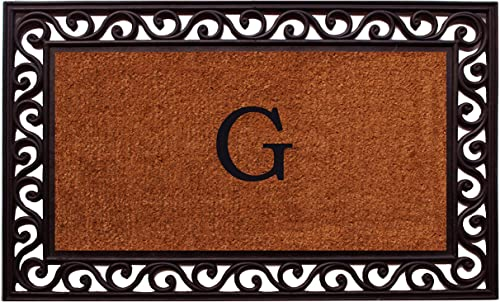 Home More 100061830G Rembrandt Monogram Doormat Letter G