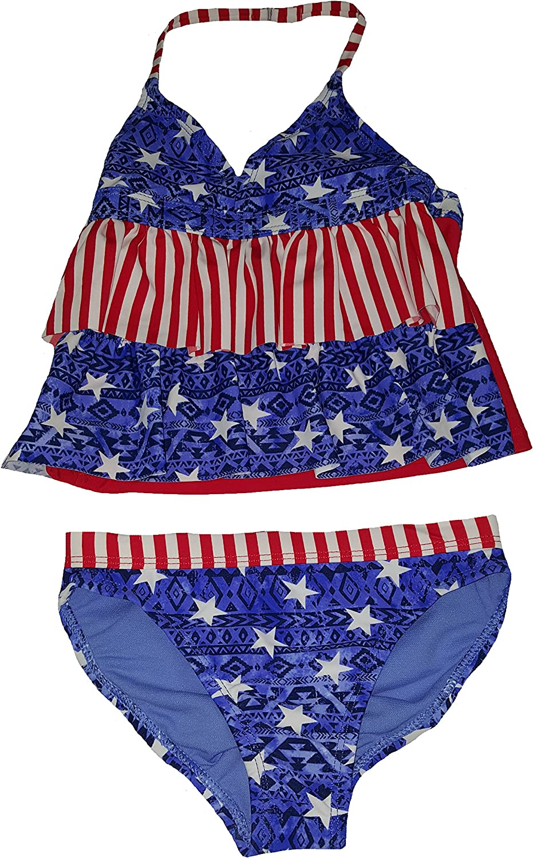 Wonder Nation Girls Americana Tribe 2 Piece Tankini