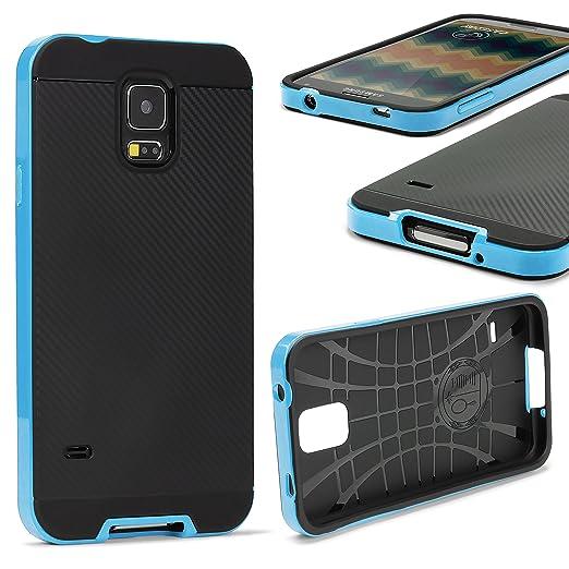 16 opinioni per URCOVER Custodia Protettiva Samsung Galaxy S5 | Back Cover Rigida Carbon Style