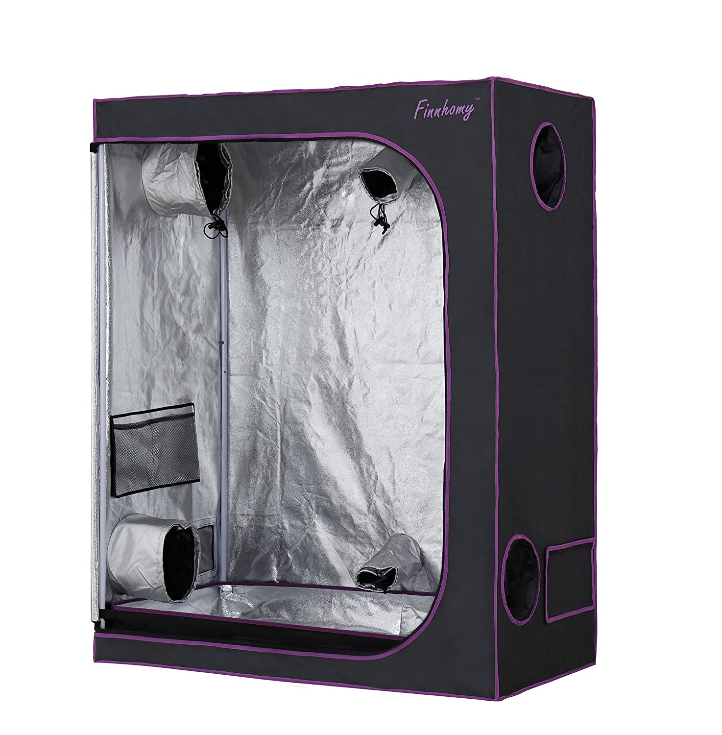 Finnhomy Mylar Hydroponic Grow Tent 48 x24 x60  600D Led Grow Room Greenhouse  sc 1 st  Amazon.com & Amazon.com : High Rise 10u0027 x 10u0027 Grow Tent : Garden u0026 Outdoor
