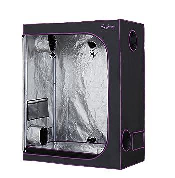 Finnhomy Mylar Hydroponic Grow Tent 48u0026quot;x24u0026quot;x60u0026quot; 600D Led Grow Room Greenhouse  sc 1 st  Amazon.com & Amazon.com : Finnhomy Mylar Hydroponic Grow Tent 48