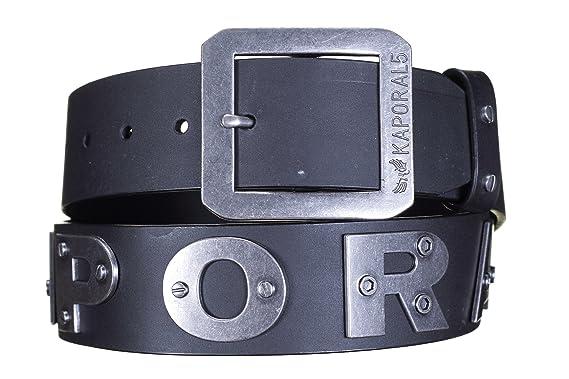 Kaporal XS ceinture 5 bold cuir noir e16  Amazon.fr  Vêtements et ... ba147e96088