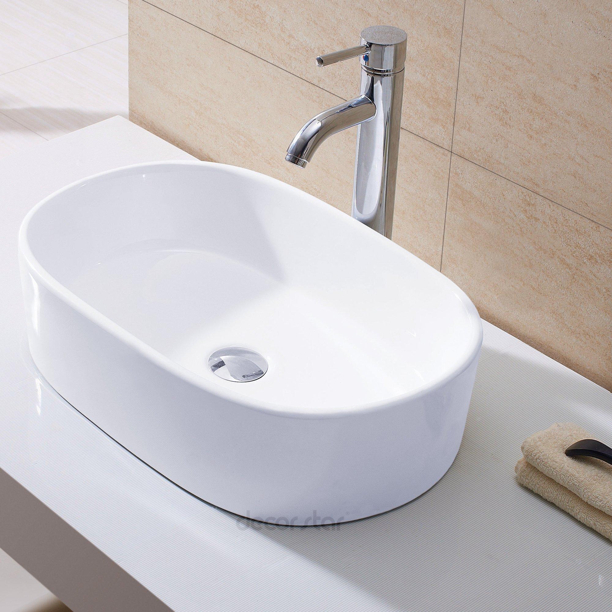 Decor Star CB-002 Bathroom Porcelain Ceramic Vessel Vanity Sink Art Basin