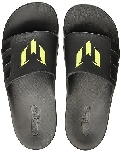 b091153a0df2 Adidas Men s Aqualette Cf Messi Cblack Cblack Cblack Flip-Flops - 4 ...