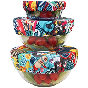 Wegreeco Reusable Bowl Covers - Set of 3,Odyssey