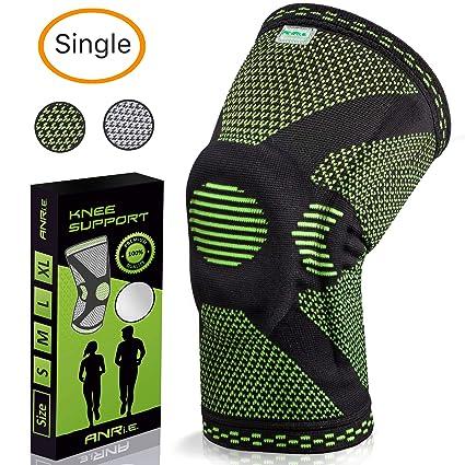 Amazon.com: ANRI.E. Rodillera con almohadilla de silicona y ...