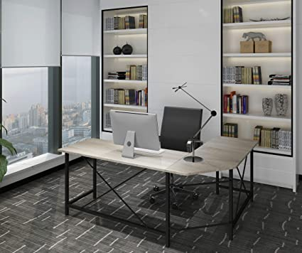 amazon com modern computer desk l shaped corner desk home office