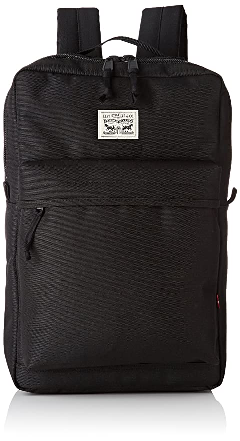 b6867800e49 Levi s The L Pack, Unisex Adults  Backpack, Black (Black), 12x45x29 ...