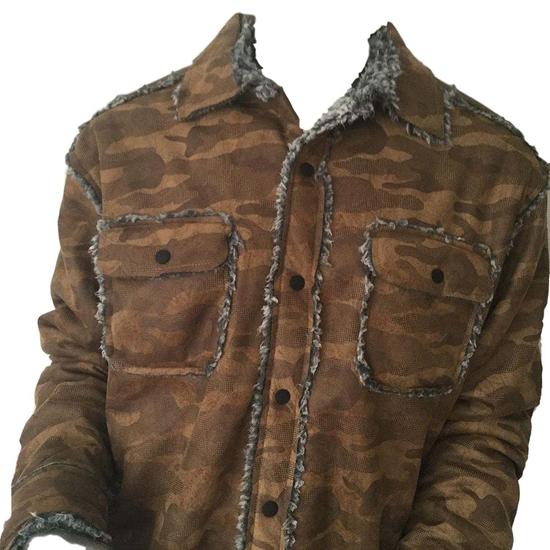 df41f8e70 Amazon.com  True Grit Camo Sherpa Snap Jacket  Clothing