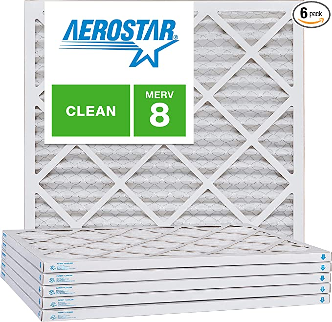 Nordic Pure 23/_1//2x23/_1//2x1 MERV 8 Pleated AC Furnace Air Filters 6 Pack