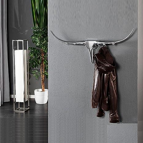 Amazon.com: Diseño clóset Bull perchero gancho de pared ...