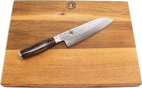Kai Shun Premier Tim M/älzer Steakmesser-Set aus Damaststahl TDMS-400 | Palatina Werkstatt /® 2-TLG 2 handgefertigte Messerb/änkchen aus Fassholz
