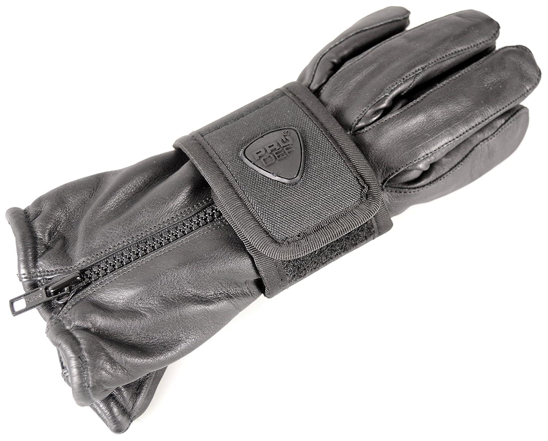 horizontal PRODEF/® Portaguantes cierre de velcro acelerador polyamid negro
