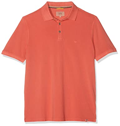 Camel Active Basic Polo Piqué 1/2, Rojo (Coral Core 43), XXX-Large ...