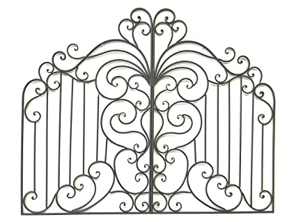 Cheap Chic Decor Natala Tuscan 41u0026quot; Iron Garden Gate Wall Grille