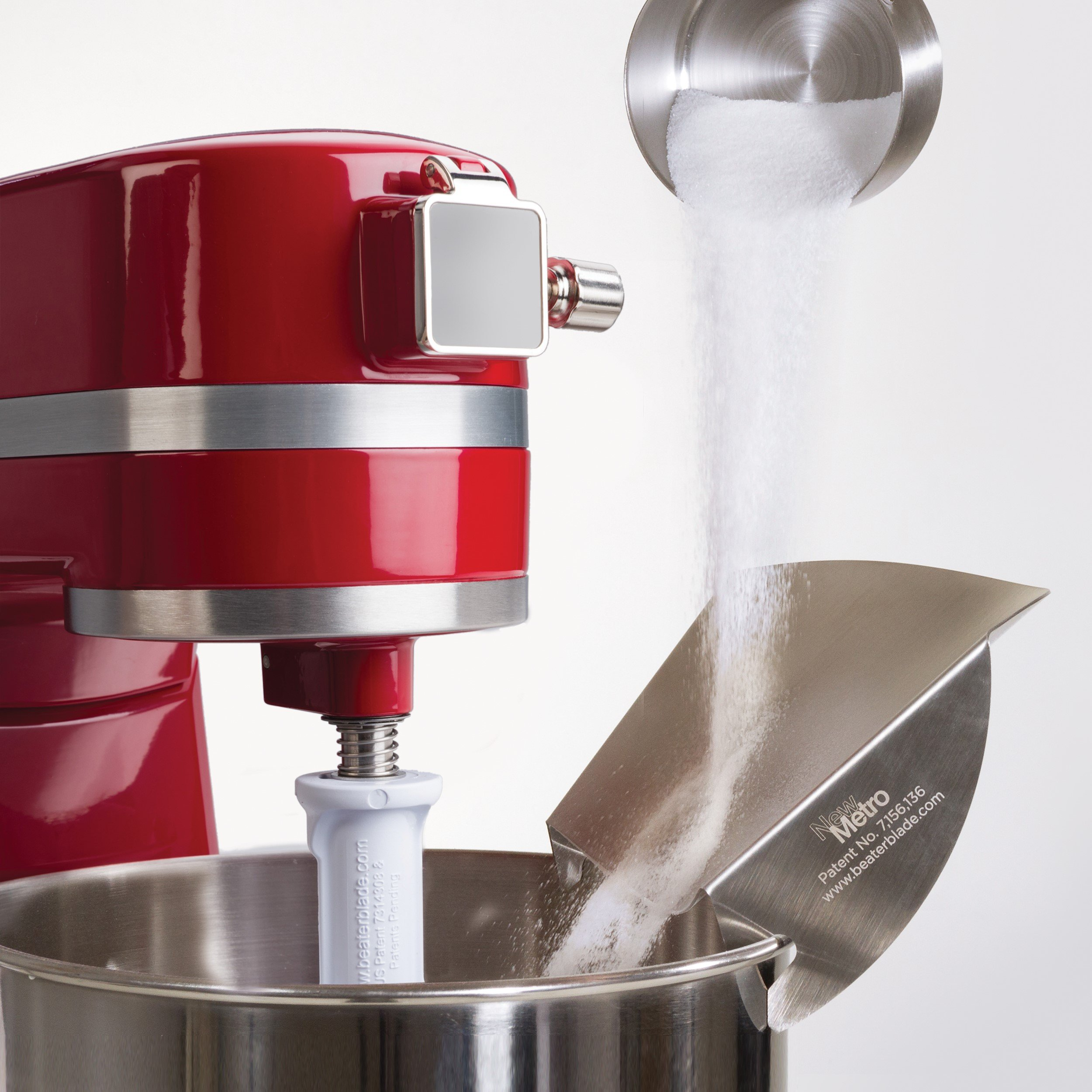New Metro Design Universal Pouring Chute for Use with Stand Mixers with Metal Bowls, Stainless Steel by New Metro Design (Image #3)