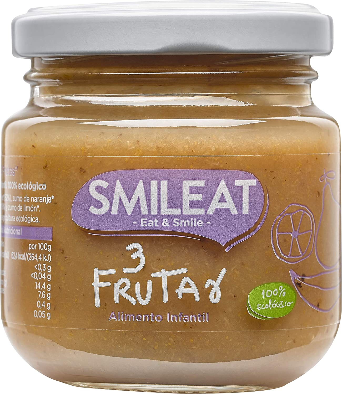 Paquete de 12 x 130 gr Smileat Total: 1560 gr Potito Tres Frutas Ecol/ógico