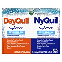 DayQuil and NyQuil SEVERE with Vicks VapoCOOL Cough, Cold & Flu Relief, 48 Caplets...